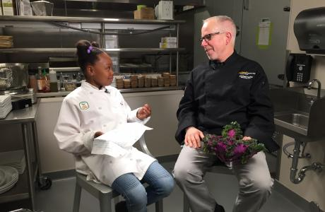 Kid Chef Pear Interviews Golden 1 Center Chef Michael Tuohy