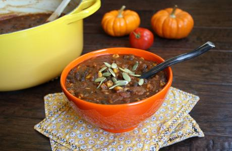 Image of Pumpkin Black Bean Chili