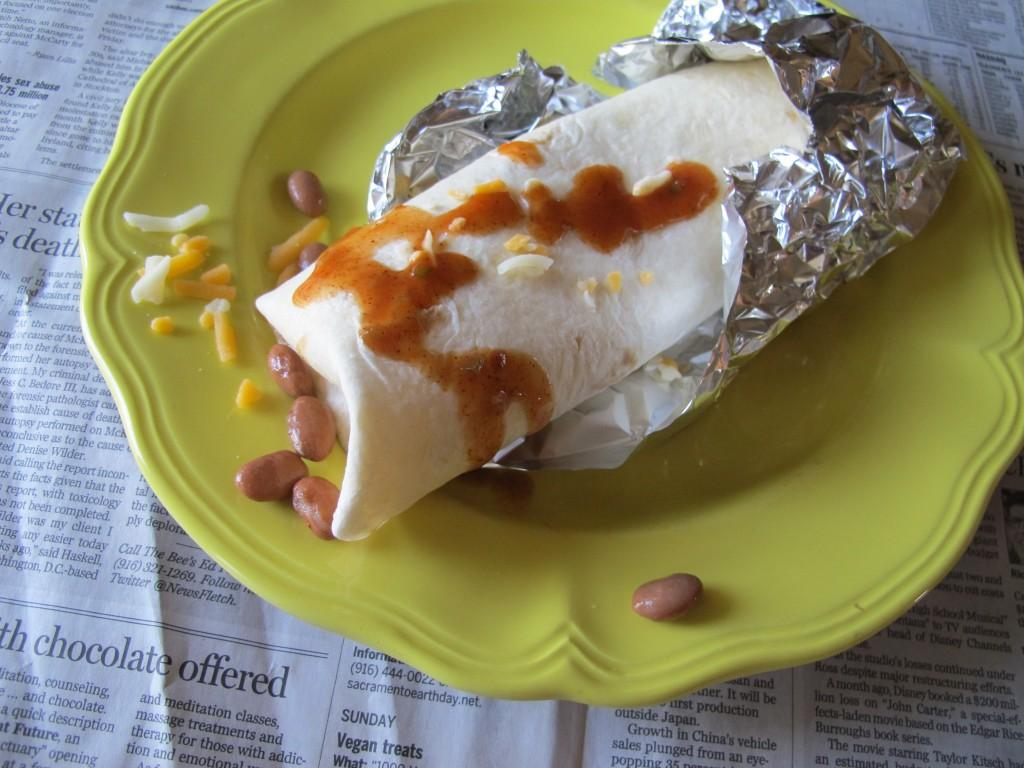 homemade  u201cfast food u201d bean burrito