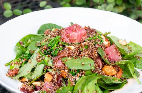 Warm Red Quinoa Salad at Hook & Ladder