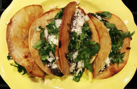 Black Bean Puree Tacos