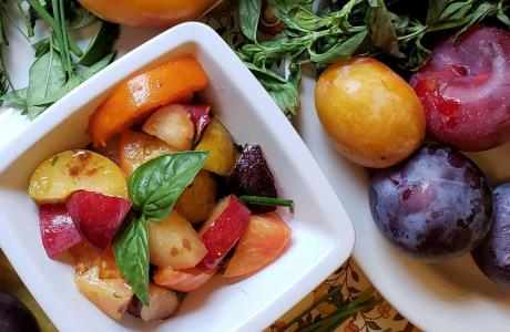 Stone Fruit & Tomato Salad