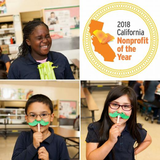 Food Literacy Kids & California Nonprofit of the Year logo