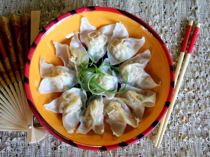 Chicken & Vegetable Steamed Wontons - Food Literacy Center
