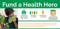 Fund a Health Hero graphic